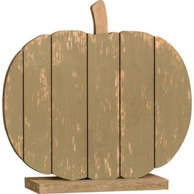 Weathered Pumpkin Decor in Green