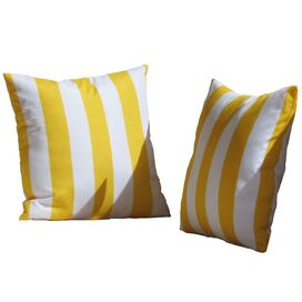 Leonard Indoor/Outdoor Throw Pillow in Yellow (Set of 2)