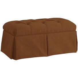 Noelle Tufted Storage Ottoman in Chocolate