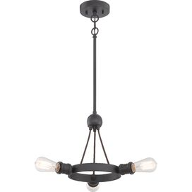 Tamryn Semi Flush Mount in Aged Bronze