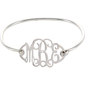 Personalized Sterling Silver Initial Bracelet