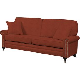 "Axel 82"" Sofa in Orange"