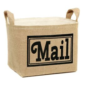 Mail Burlap Storage Basket