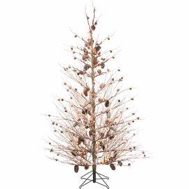 Pre-Lit Pine Cone Tree