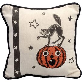Cat & Pumpkin Pillow
