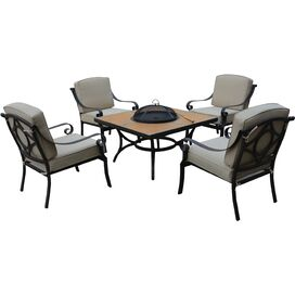 5-Piece Garrison Firepit Seating Group