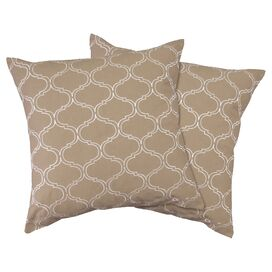 Dorinda Pillow Cover in Taupe (Set of 2)