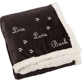 Sheri Pet Throw Blanket in Black