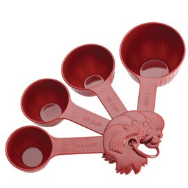 4-Piece Measuring Cup Set in Red