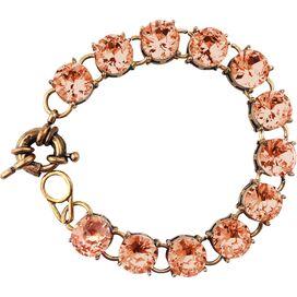 Vintage Studded Bracelet in Champagne Pink