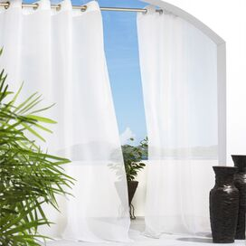 Escape Indoor/Outdoor Curtain Panel in White