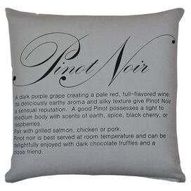 Pinot Noir Pillow in Slate