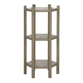 Leonie End Table in Pearl Taupe