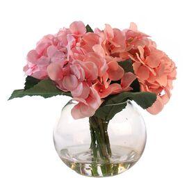 Silk Pink Hydrangea Arrangement
