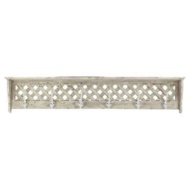 Thatcher Wall Rack in Cream
