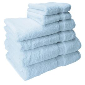 6-Piece Seneca Egyptian Cotton Towel Set in Light Blue