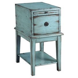 Landon End Table in Blue