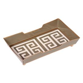 Greek Key Towel Tray