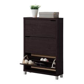 Simms 3-Drawer Shoe Cabinet in Espresso