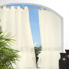 Natural Indoor/Outdoor Grommet Curtain Panel