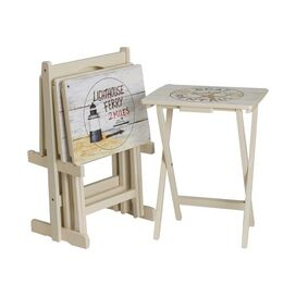 5-Piece Nautico Tray Table Set
