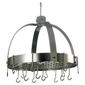 Old Dutch Dome Hanging Pot Rack in Satin Nickel