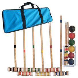 17-Piece Complete Croquet Game Set
