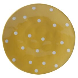 Sprinkle Dinner Plate in Yellow