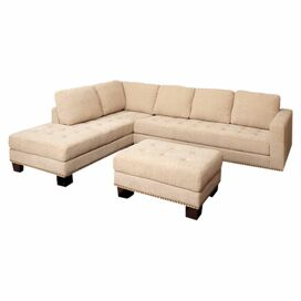 "Claridge 115"" Tufted Sectional Sofa"
