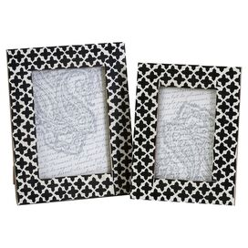 2-Piece Alia Bone Picture Frame Set