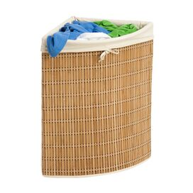 Lined Bamboo Hamper