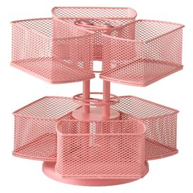 Rotating Cosmetic Carousel in Pink