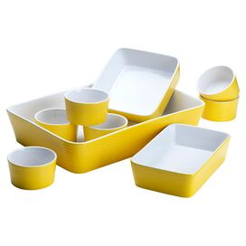 9-Piece Veronica Bakeware Set in Yellow