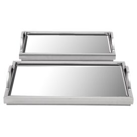2-Piece Cardiff Mirrored Tray Set