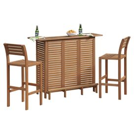 Montego Bay 3-Piece Bar Cabinet Set