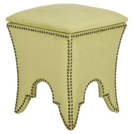 Sophie Upholstered Storage Ottoman in Chartreuse