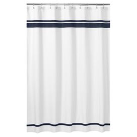Ibiza Shower Curtain in Navy