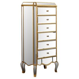 Cecile Mirrored Tall Chest