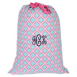 Personalized Quatrefoil Laundry Bag