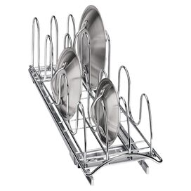 Roll-Out Lid & Tray Organizer in Chrome