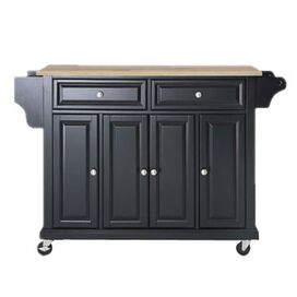 Bradbury Kitchen Cart in Black