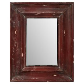 Celeste Wall Mirror in Vintage Red