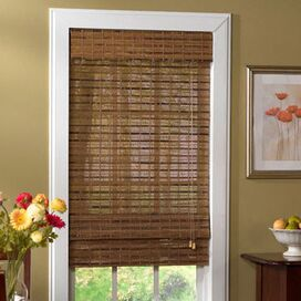 Bamboo Roman Shade in Pecan