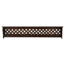 Thatcher Wall Rack in Brown