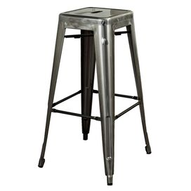 Amelia Barstool in Galvanized Silver