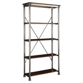 Orleans 4-Shelf Bookcase in Birch & Silver