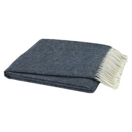 Assiro Throw in Navy