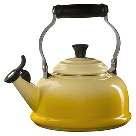 Le Creuset Enamel On Steel 1.8 Qt. Classic Whistling Tea Kettle in Soleil