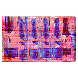 Cristal on Crystal Rose Canvas Print, Oliver Gal