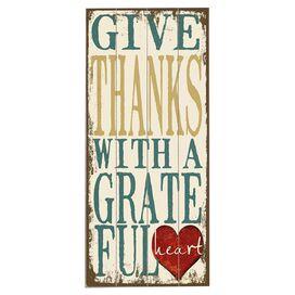 Give Thanks Wall Decor